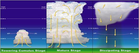 convective clouds developments