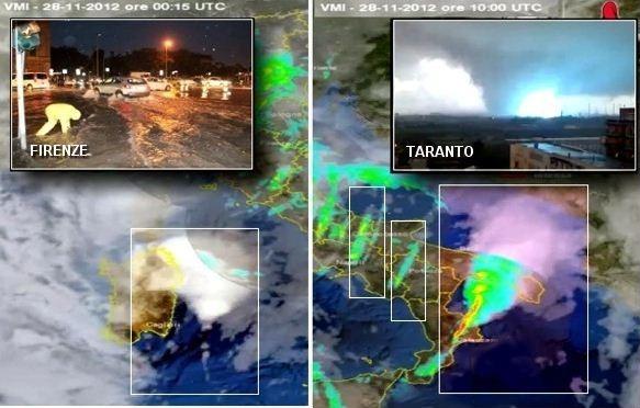 Alluvione di Novembre 2012 in Toscana e Tornado a Taranto