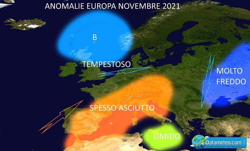 Carta previsioni meteo autunno 2021