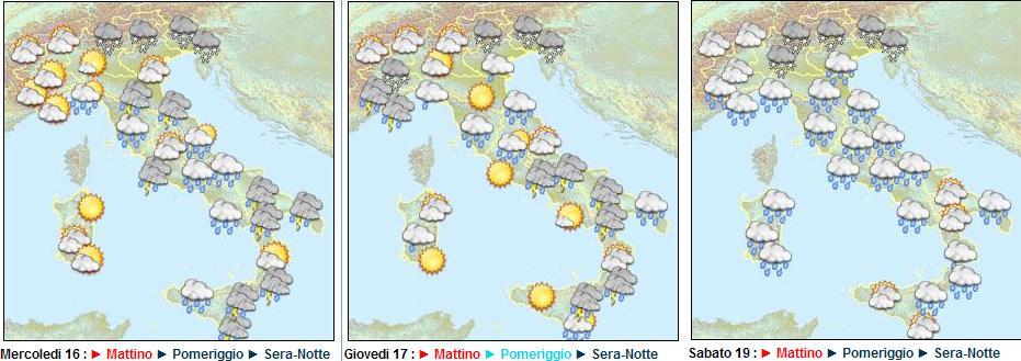 tendenza meteo sino al 19 Febbraio 2011