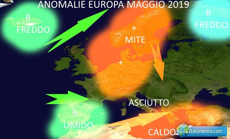 tendenze stagionali rischio meteo