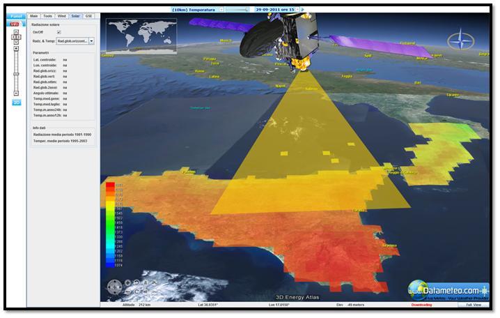 dati meteorologici da satellite