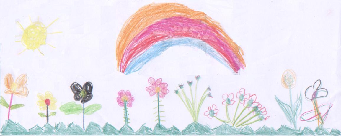 una bella estate vista dai bimbi con sole ed i fiori