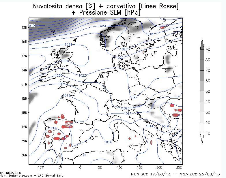 previsioni nuvolsità convettiva
