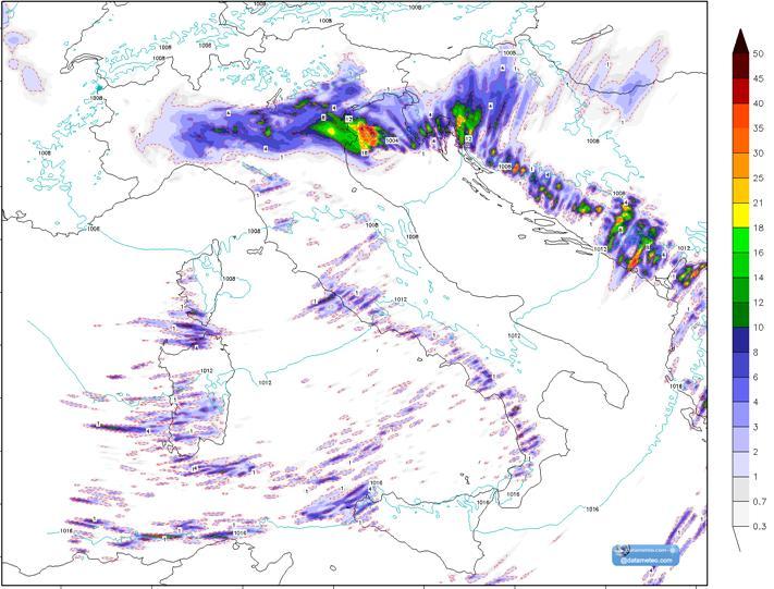 Modello WRF EMM 2Km campo precipitazioni