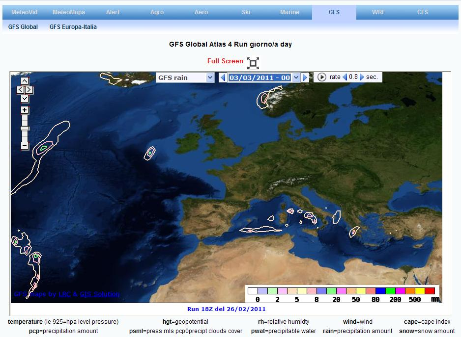 Meteobrowser Global GFS