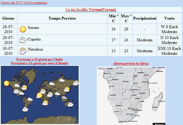 meteo Mail newsletter