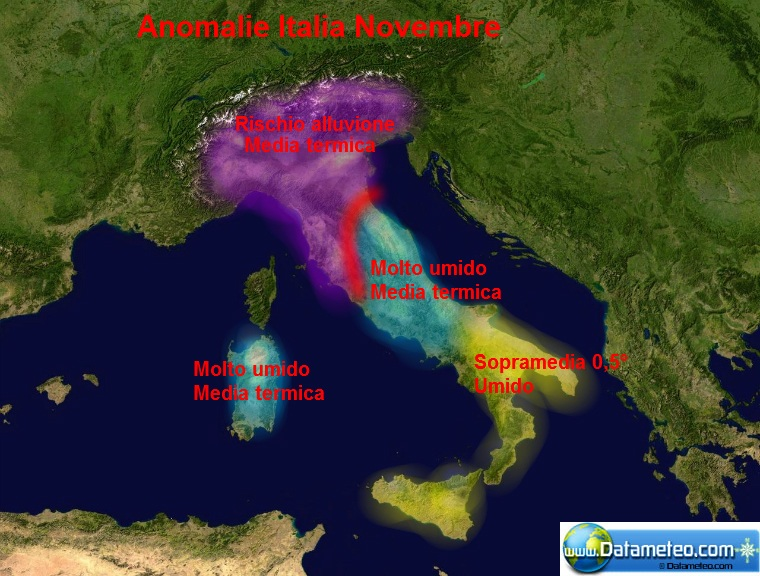 Carta Italia Previsioni Stagionali