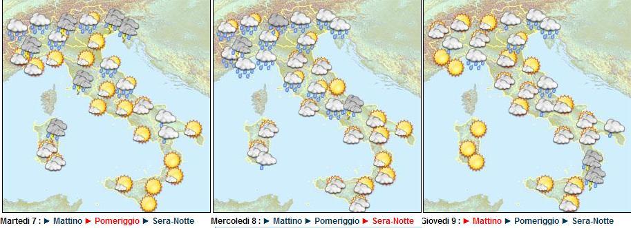 tendenza meteo sino al 08 Giugno 2011