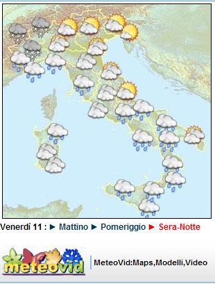 meteo a lungo termine dell' 11 dicembre 2009