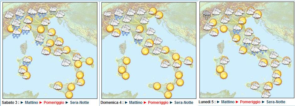 meteo week-end di Pasqua 2010