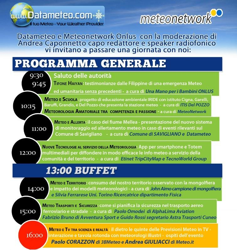 Programma 3° Giornata della Meteorologia